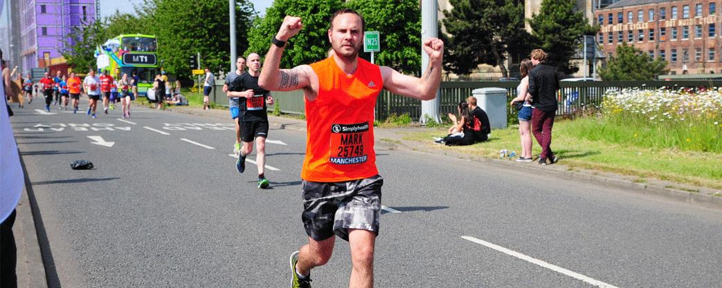 mark running half marathon
